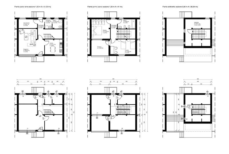 Perfect pianta case a schiera with planimetrie di case for Planimetrie della casa a schiera